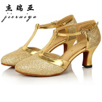 Free Shipping New Fashion Square Dance Latin Dance Shoes Women's heal Shoes for Satin US Size4.5-9.5