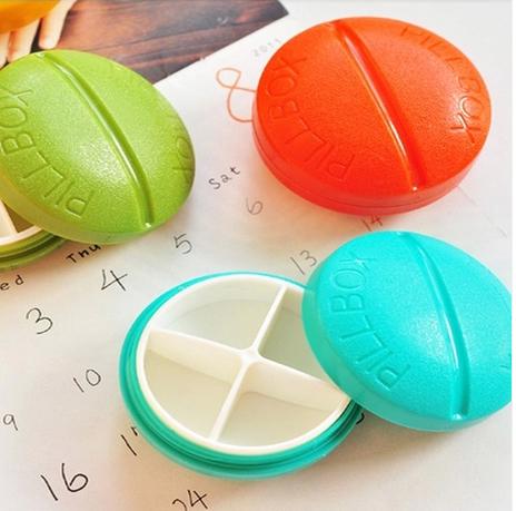 Free shipping Compartment Travel Pill Box Organizer Tablet Medicine Storage Dispenser Holder p1404(China (Mainland))