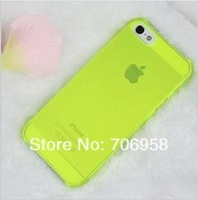 Free shipping!Latest  Slim 0.5mm Phone Protection Case for iphone 5 5s 4 4s Frosted transparent Mobile Shell