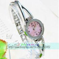 2014 Factory Price Stainless Steel Bracelet Watch Fashion Style Ctystal Dress Watch Wrap Quartz Ladies Watch 100pcs/lot 4 Colors