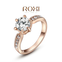 ROXI exquisite rose-gold plated intensive mosaic rings,fashion jewelrys,factory price,Chirstmas gift,high quality,hot 2010239260
