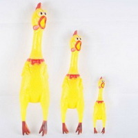 1PC Mini 17cm Screaming Chicken Pet Product, Puppy Dog Sound Toys, Pet Playmate Dolls EJ870089