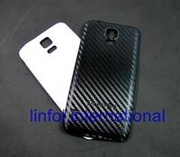 2pcs Carbon Fiber Leather Original OEM Battery Back Door Housing Case Cover Door for Samsung Galaxy S5 SV I9600 9600 G900 Free S