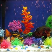 Free Shipping +3 pcs/ lot 3 Colors  Aquarium Fish Tank Decor Artificial Silicone Coral Plant Underwater Decoration