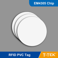 RFID Tag for asset management, RFID PVC Tag, RFID Smart Tag, RFID Coin tag for access control with EM4305 Chip  Free Shipping