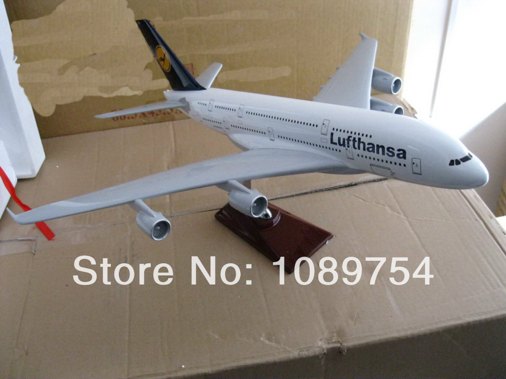 Lufthansa A380,47cm Resin airplane models free shipping(China (Mainland))