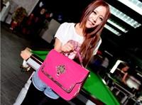 2014 Hot! Miss Xia Xinkuan shoulder bag Messenger bag retro Korean motorcycle pu handbag Free shipping--058