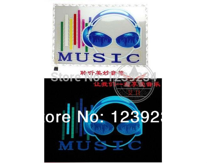 45 cm * 30 cm New Car música Rhythm LED Auto Sound música Activated Equalizer brilho Flash Kit luz etiqueta Subwoofer(China (Mainland))
