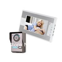 7 Inch Night Vision Digital Video Door Phone Intercom Doorbell Doorphone System with TFT LCD Color Monitor & Outdoor Camera