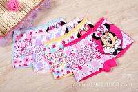 6pcs/lot 2014 new fashion cotton children panties girls' briefs female child underwear lovely cartoon panties children clothing