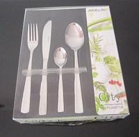 Western stainless stell tableware knife fork spoon teaspoon16 piece gift box set