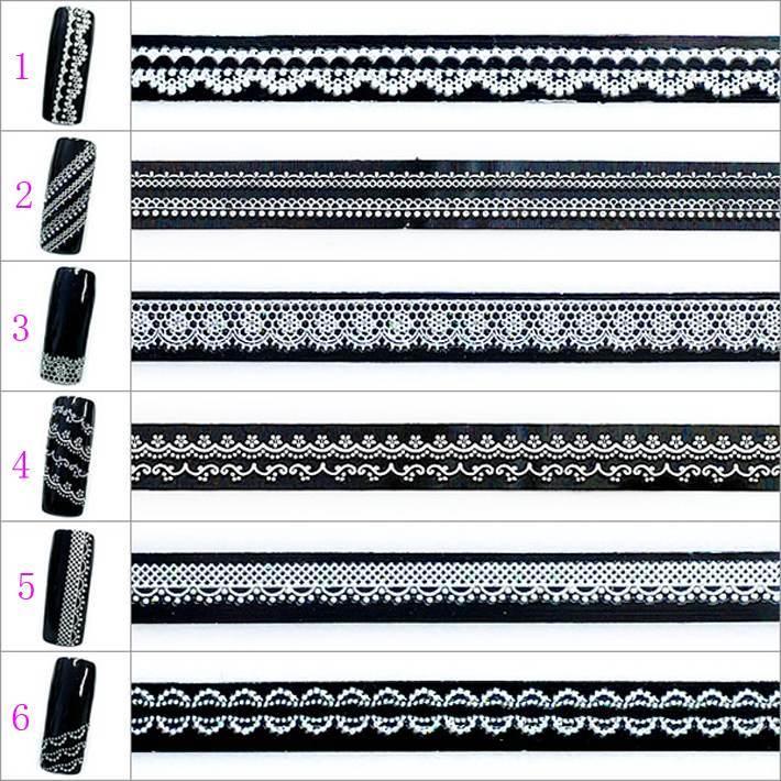 Nail art 3d slitless lace flower white diy false nail supplies the bride accessories belt adhesive(China (Mainland))
