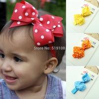 Infant flower headband flower elastic Wave point hairband baby Baby Girl Headband Newborn Headband Toddler Headband