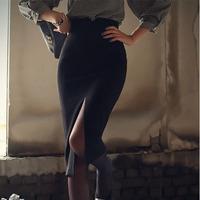 Free Shipping Women's Professional High Waist Placketing Slim Hip Skirt ,  Sexy Live- Knee Midguts Skirt ,Big Size, XS-XXXL