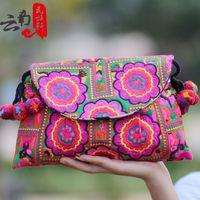 Unique embroidered bag women's handbag national trend handmade embroidery cloth bags messenger bag