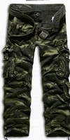 New Arrival Male Outdoor Casual Plus Size Loose Multi-Pocket Camouflage Tooling Trousers Men Pants