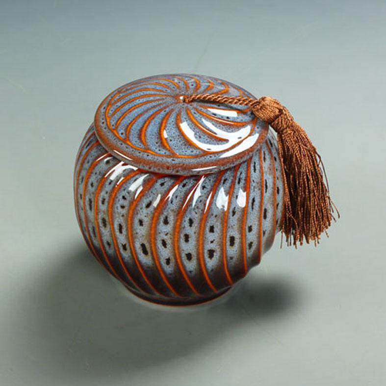Cerâmica caddy chá único vasilha tanque de armazenamento de presente decoração forno(China (Mainland))