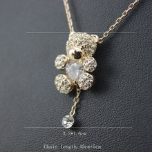 Fashion Tai chi bear necklace for women luxury statement brand stud necklace new design jewelry