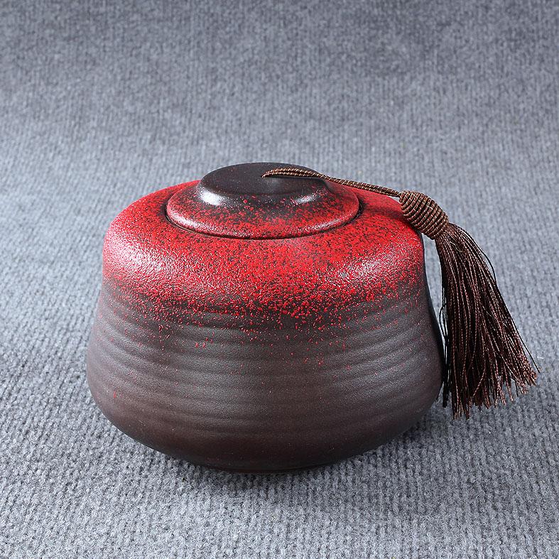 Único clássico chá caddy tanque de armazenamento vasilha cerâmica dom logotipo cerâmica vermelha(China (Mainland))
