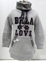 Benkala bjqb196 female child velvet thickening sweater turtleneck sweater