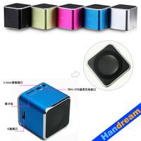 Handream  HOT Mini Music box  mini speaker JH-MD07 original quality+FM+TFcard+Factory wholesale+Quick delivery+Gift Speaker