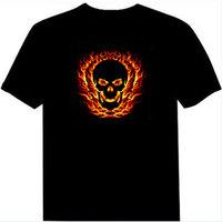 Luminous t-shirt el t-shirt sound control led t-shirt dj light clothes sound music t-shirt sztdt688
