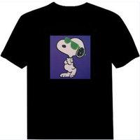 FREE SHIPPING Fashion el light clothes music t-shirt voice activated t-shirt luminous t-shirt sztdt828