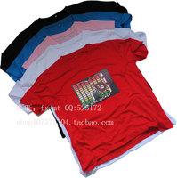 Free shipping Luminous t-shirt el t-shirt sound control led t-shirt light clothes sztdt016