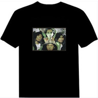 FREE SHIPPING Beyond band anniversary edition el light clothes music t-shirt voice activated t-shirt luminous t-shirt sztdt821