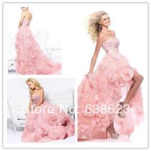 wholesale short front long back wedding dress