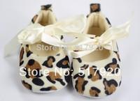 Wholesale 2014 fashion leopard princess shoes baby non-slip soft bottom toddler shoes 11-13cm