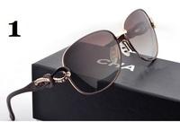Free Shipping 2014 High quality Polarized sunglasses women brand designer sunglasses Driving Mirror Fashion Leisure sun glasses