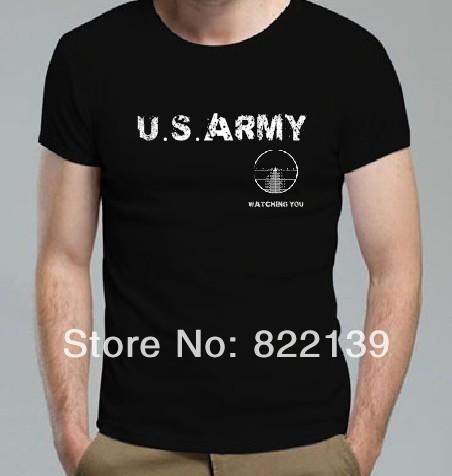 2014 Watching You Hey Man T Shirts Cool Seal Team T Shirts Marvel Comics army t shrits USA Navy Custom shirts Design T Shirts(China (Mainland))