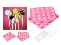NEW SILICONE NON STICK CAKE POP SET BAKING TRAY MOLD BIRTHDAY PARTY 20 UNITS  kitchen cake mould