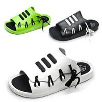Slippers strap drag platform beach lovers flat shoes