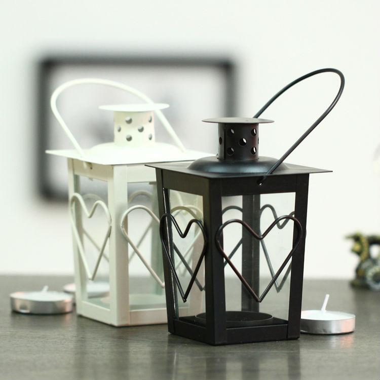 Free shipping outdoor glass hanging candle holders 2 colors options iron lantern wedding decoration iitala(China (Mainland))