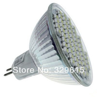 50pcs 12V MR16 60 SMD 3528 LED 3.6W Warm White /Cold white LED Spotlight light Bulb Wide Degree Energy Saving Lamp