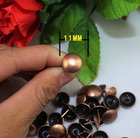 Lots of 300pcs Upholstery Nails Tacks Studs Pins 11*11MM Furniture Decorative Red Bronze