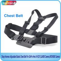 Free Shipping!! Strap Harness Adjustable Elastic Chest Belt For GoPro Hero 3+/3/2/1,SJ4000 Camera