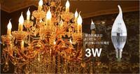 YIJIAMING  E14/E27 3W LED Candle Light