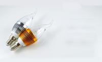 Free shipping 3W E14 E27 3*1W 85-265V Super Bright LED Candle Light Bulb LED Chandelier Spot Light Warm/Pure White 12pcs/lot