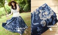 Chinese style clothing fabric cotton calico wind flower background curtain fabrics