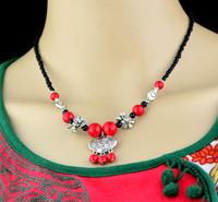 Lucky national trend small silver tibetan jewelry female jewelry longevities necklace csxl011