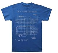 2014 BACK TO THE FUTURE  Dr. E. Brown Enterprises Time Machine With DeLorean SchematicT-Shirt 100% cotton Accept group/mix order