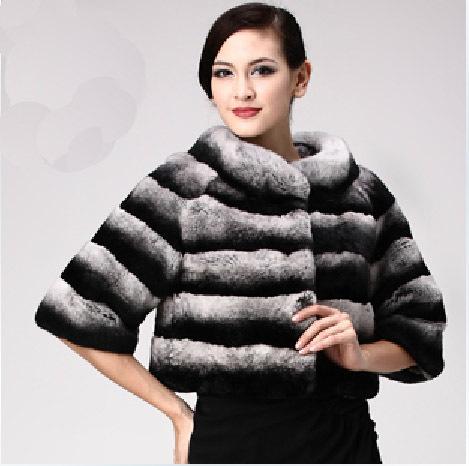 Chinchilla Rabbit Fur Coat Rabbit Fur Coats Short