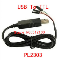 Free shipping  100pcs/lot PL2303 PL2303HX USB to UART TTL Cable module 4p 4 pin RS232 Converter in stock