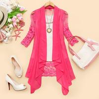 - k198 2014 spring women's o-neck organza chiffon cardigan sun protection clothing d-03