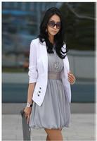 2014 Blazer Feminino Promotion Full Blaser Feminino Fashion All-match One Button Collar Beauty Elegant Turn-down Suit Jacket