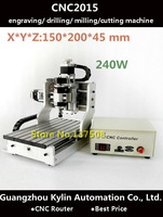 Best Price! Mini CNC router CNC2015 engraving / drilling / milling /cutting machine,240w spindle motor CNC router