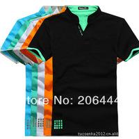 2014 fashion men t shirt  cotton multi-color shirt short sleeve plain t-shirts for men